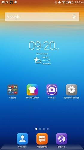 ไม่มี App tray มีแต่ Home screen เลย