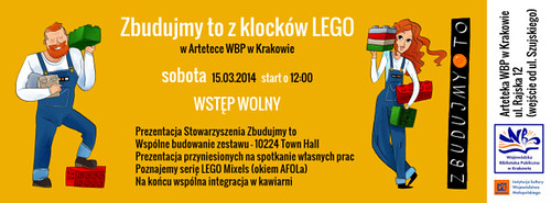 AFOL Meetup at Arteteka WBP Krakow this Saturday