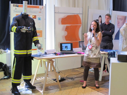 Smart Textiles Salon - Flexible Thermal Detector in Personal Protective Equipment for Fire-Fighters (INTELTEX) by Aurélie Cayla of ngineering and Textile Materials Laboratory (GEMTEX), ENSAIT