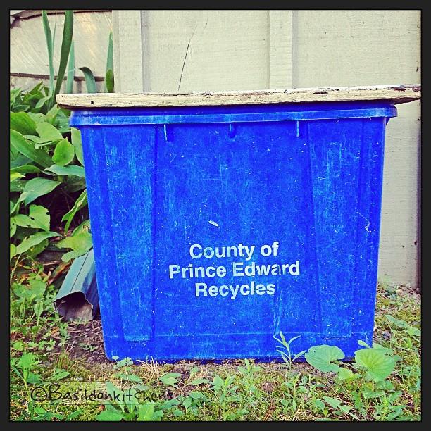 Aug 14 - trash {reduce, reuse, recycle} #fmsphotoaday #trash #recycle #bluebin