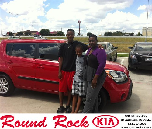 Thank you to Shantiea Little on your new 2013 Kia Soul from Amir Mahboubi and everyone at Round Rock Kia! by RoundRockKia