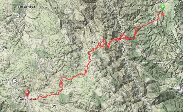 Map - Layemebamba to Cajamarca