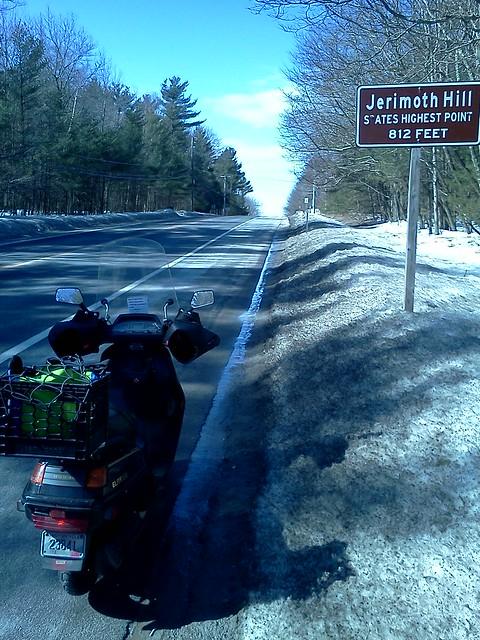 Honda Elite CH250 at Jerimoth Hill, Rhode Island