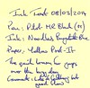 Ink Review Noodler's Baystate Blue - Post-it