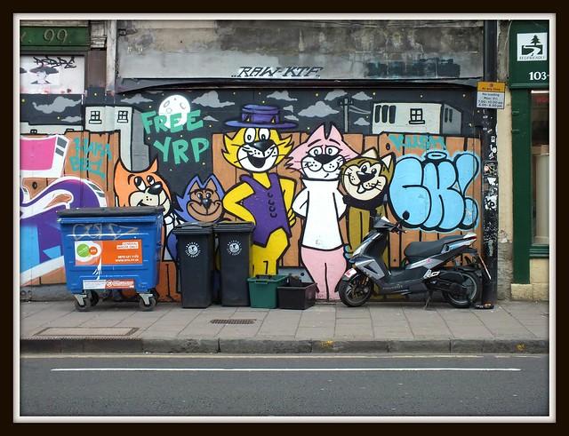Topcat, Street Art at Stokes Croft, Bristol