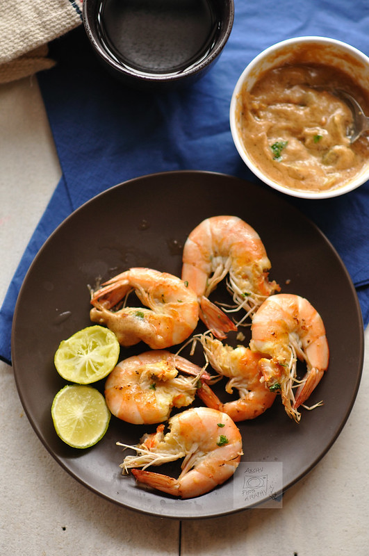 Day 148.365 - Grilled Prawns with Peanut Butter Sauce