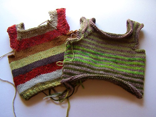 scrap stripes vests - 12 mo.