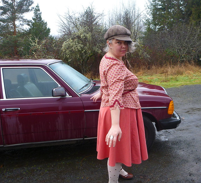 Alma and car