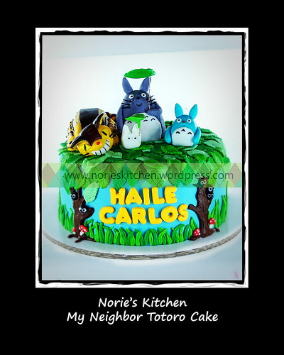 Norie's Kitchen - My Neighbor Totoro Cake by Norie's Kitchen