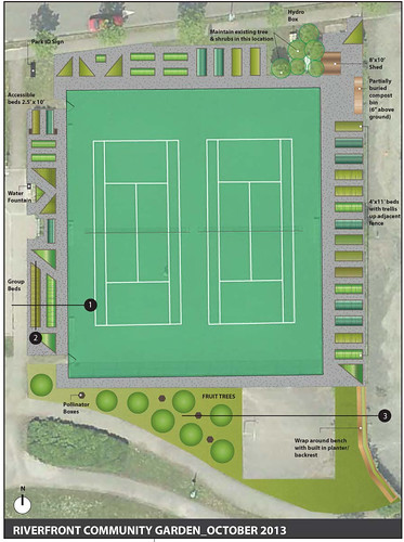 Proposed Riverfront Park Community Garden: 2014 Jan 20