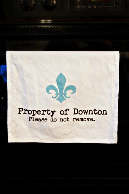Property of Downton Tea Towel