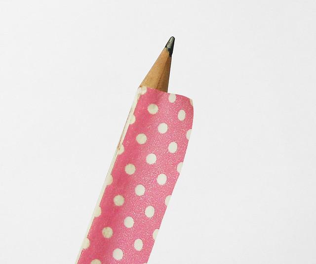Washi tape pencil 04