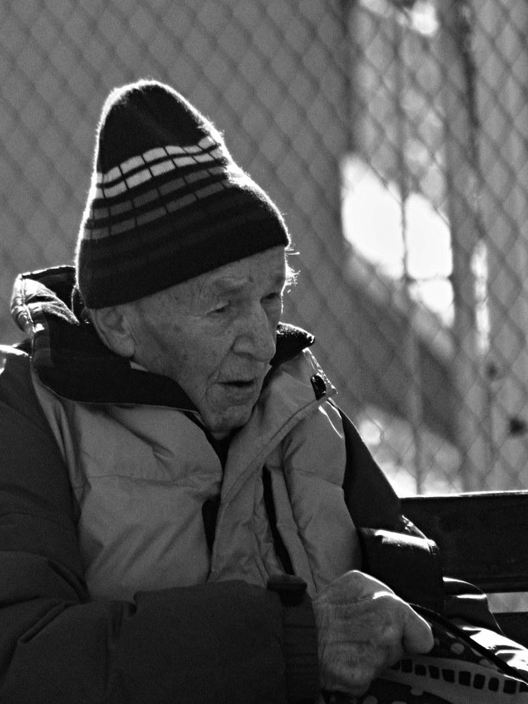 Old man at Bus Stop 3