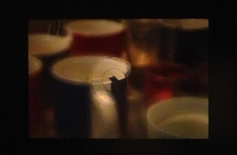 View through split prism focus screen on my 350d