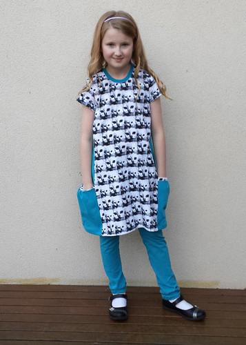 Modkid Melanie dress with Go To Leggings