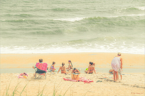 Image of family at Flagler Beach