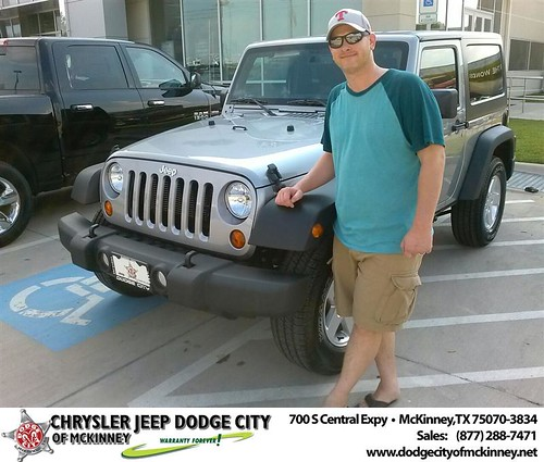 Thank you to Quintin Hatch on your new 2013 Jeep Wrangler from David Walls and everyone at Dodge City of McKinney! by Dodge City McKinney Texas