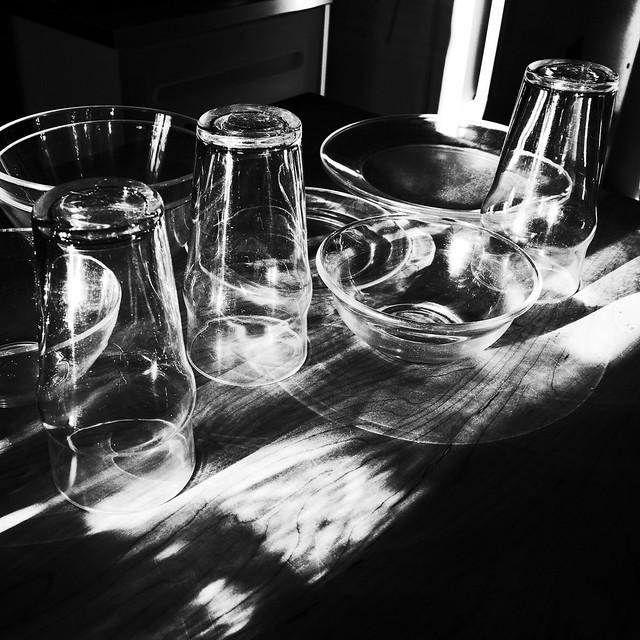 Glassware in the sun