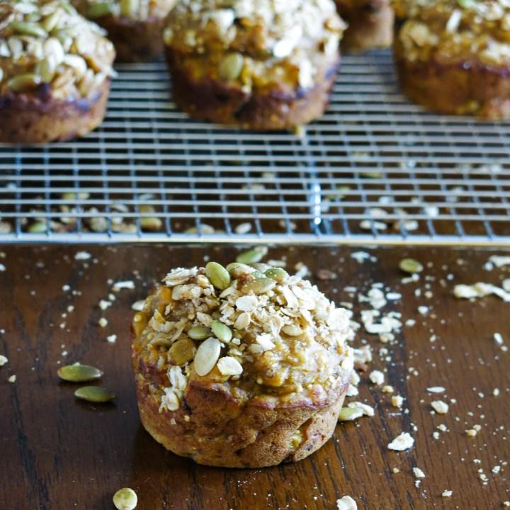 Mutli-grain Pumpkin Muffins