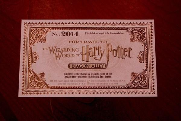 Diagon Alley preview invitation from Universal Orlando