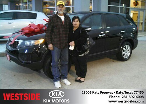 Thank you to Edelmiro Santos Delacruz on your new 2012 #Kia #Sorento from Gil Guzman and everyone at Westside Kia! #Awesome by Westside KIA