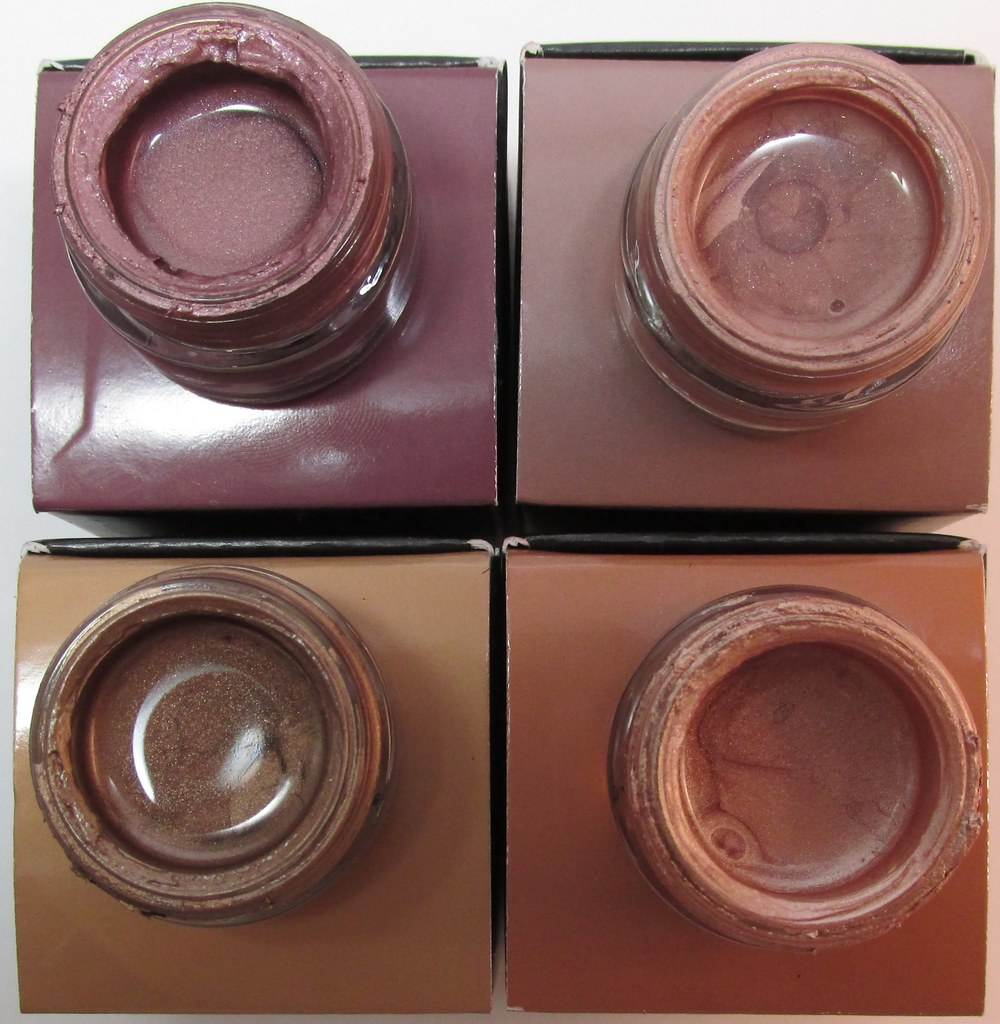 Clockwise from top left: Warm Fig, Dusty Taupe, Deep Bronze, Pale Nude