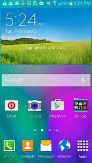 Home screen ของ Samsung Galaxy A7