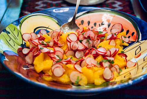 radish and orange salad