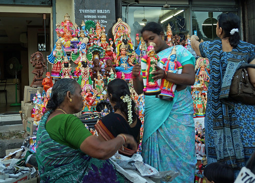 Haggling over Golu Dolls