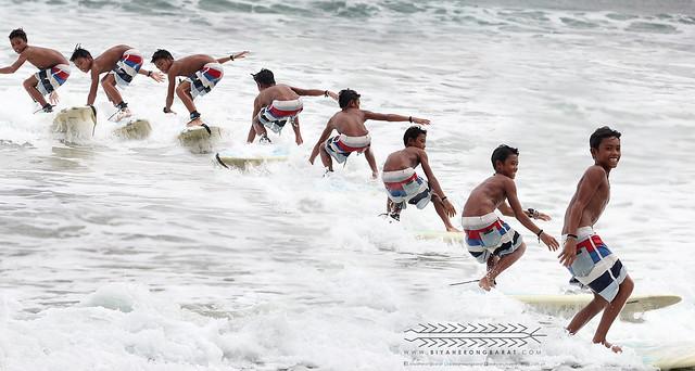 Selvester Bactad in Gubat Sorsogon surfing