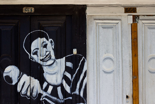 Pintada en el Barrio de Boca