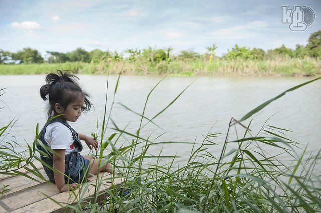 Kirsten Jae at the river bank - Pampangga River