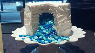 Betty Crocker Gender Reveal Cake