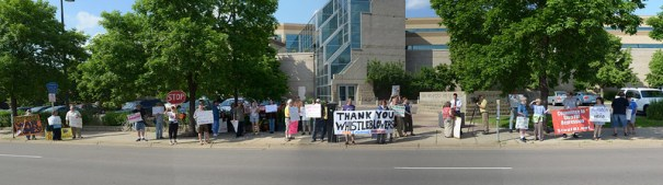 Panorama of a protest against NSA surveillance