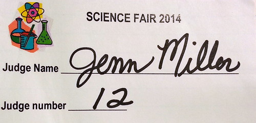 My Name Tag for Today's Science Fair