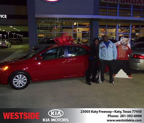 Happy Anniversary to Christina Archie on your 2013 #Kia #Forte from Suliveras Wilfredo and everyone at Westside Kia! #Anniversary by Westside KIA