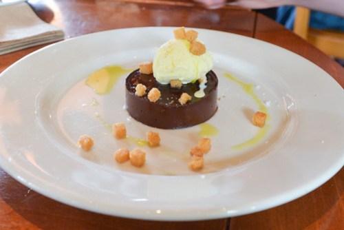 Chocolate tartufo, olive oil gelato, sea salt