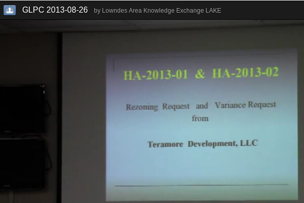 HA-2013-01 Rezoning & HA-2013-02 Variance from Teramore