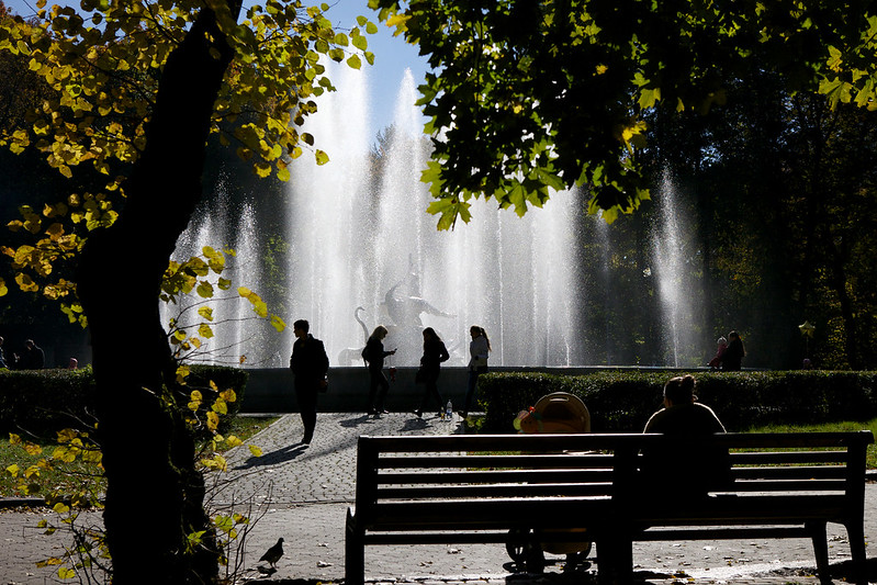 Fountain. Striyskiy park, Lviv, Ukraine