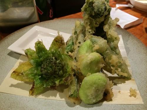 春野菜の天ぷら@炭火焼 えびすや