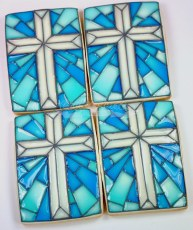 Stain Glass Cross Cookie