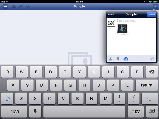 How to Upload Photos or Pictures on Facebook using iOS 6