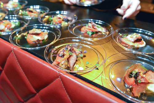 Strip House roasted bacon, heirloom tomato salad