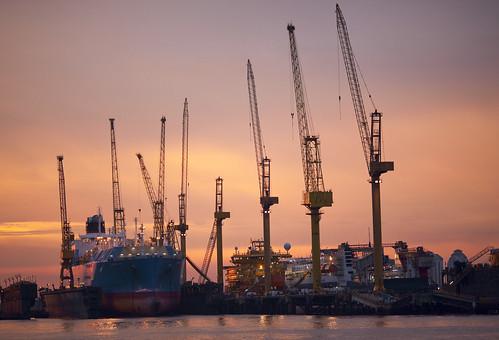sunset ships by crudestar