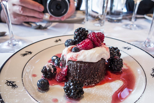 Flourless Chocolate Cake w/ Hayton Farms Berries
