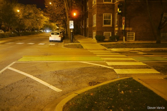 Green pavement at Ashland