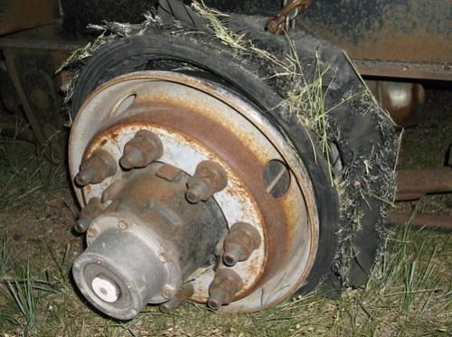 Blown tire