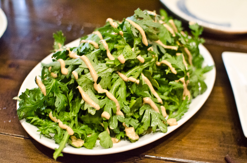 chrysanthemum salad