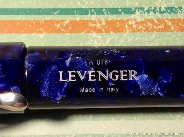 Barrel engraving Levenger Sunset