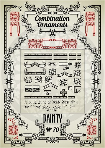 Combination Ornaments 15 Dainty N°70